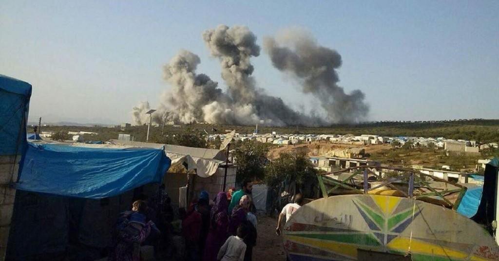 قصف سورية