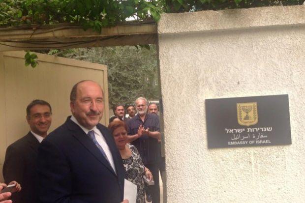 """أعربت إسرائيل عن شكرها للرئيس المصري """"عبدالفتاح السيسي"""" للسماح بإعادة فتح سفارتها بالقاهرة"""