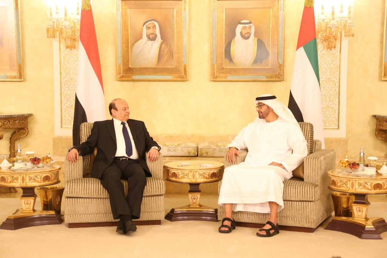 محمد بن زايد و الرئيس هادي