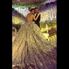 حقيقة زفاف حفيدة صدام حسين بفستان من الذهب وتاج ألماس
