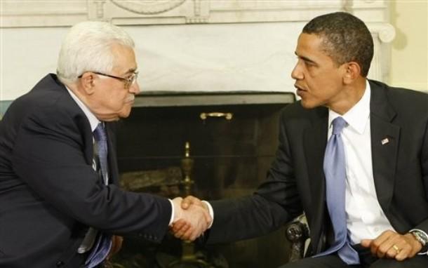 محمود عباس فس إجتماع سابق مع الرئيس أوباما