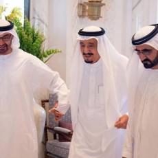 الملك سلمان ومحمد بن راشد ومحمد بن زايد