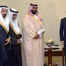 الرئيس الروسي مع وزير الدفاع السعودي