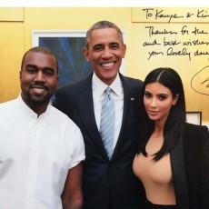 باراك أوباما مع كيم كاريشيان وزوجها