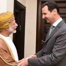 جانب من لقاء رئيس النظام السوري بشار الأسد، في العاصمة دمشق مع يوسف بن علوي