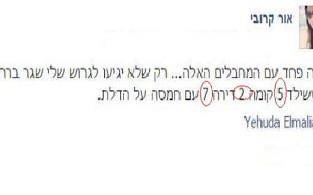 مستوطنة تحرض الفلسطينين على طعن طليقها عبر فيسبوك