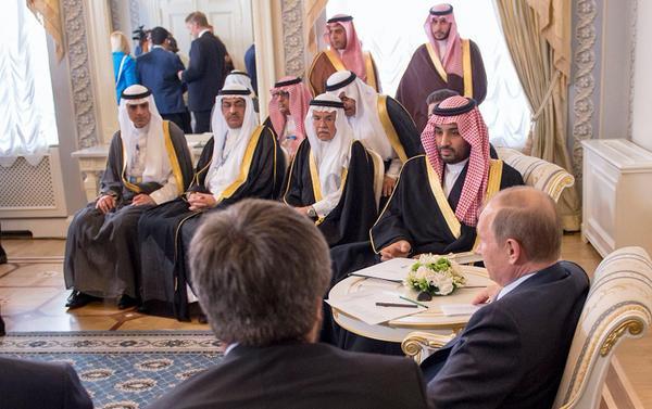 محمد بن سلمان في روسيا
