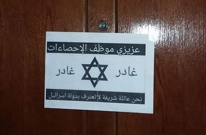 رفض لكلمة إسرائيل في كراسة الاحصاء السكاني