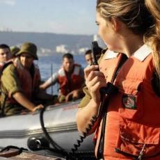 صورة لتدريبات تابعة لقوات البحرية الإسرائيلية