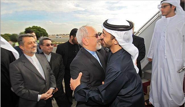 وزير الخارجية الايراني ونظيره الاماراتي