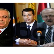 ياسر عبدربه ومحمد دحلان وسلام فياض