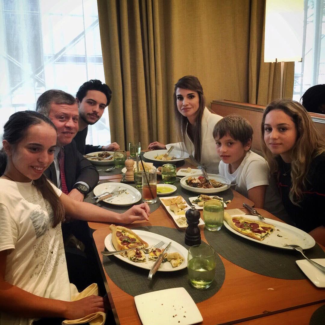 عائلة الملك الأردني