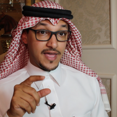 الملك سلمان والاعلامي السعودي سلمان الانصاري