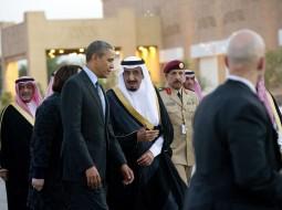 الملك سلمان والرئيس الأمريكي