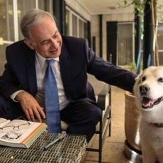 نتنياهو مع كلبه