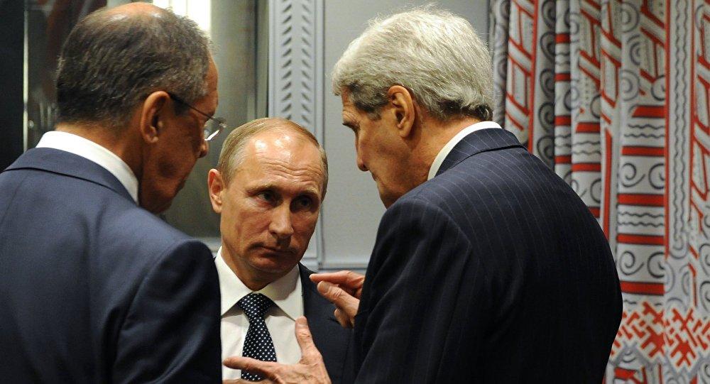 جون كيري وفلاديمير بوتين