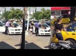 فيديو: مكسيكية تجلس علي سيارة زوجها لمنعه من الخروج مع عشيقته