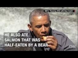 """بالفيديو.. أوباما يرفض شرب """"بوله"""" في برنامج تلفزيوني"""