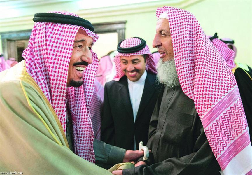 مفتي السعودية مع الملك سلمان