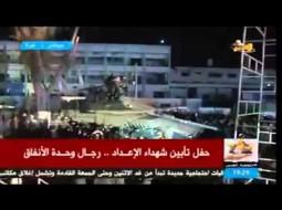 """""""فيديو"""" أبو عبيدة يطل على ظهر دبابة صناعة فلسطينية ويهدد نتنياهو بـ""""مفاجئته"""""""