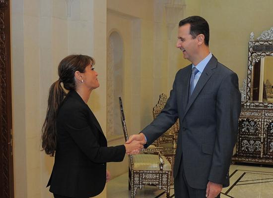 بشار الأسد والقنصل السوري
