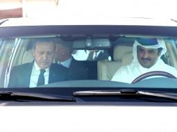 الرئيس التركي والأمير القطري
