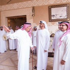 العاهل السعودي ومحمد بن زايد