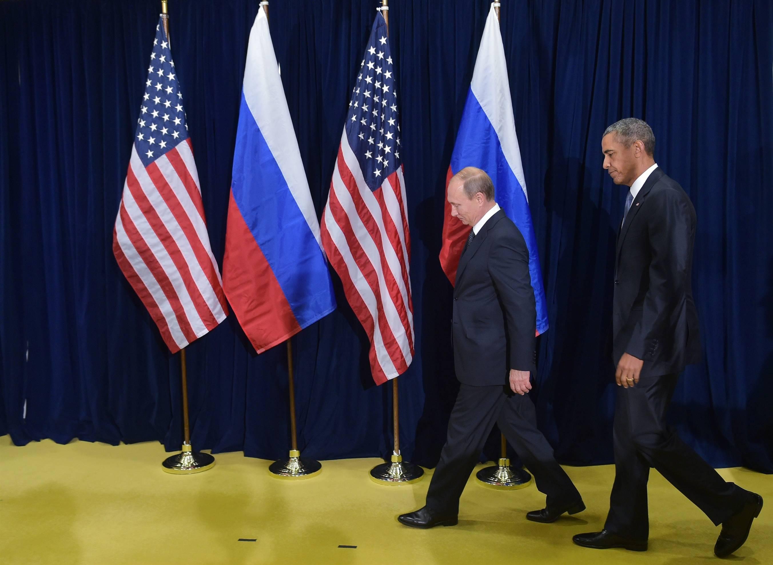 الرئيس الامريكي ونظيره الروسي