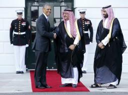 ولي العهد السعودي إلى جانب أوباما