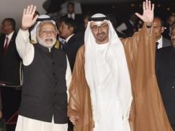 محمد بن زايد في الهند