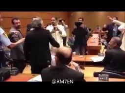"""بالفيديو.. ناشط كويتي """"غسل"""" الدشتي بالإهانات.. والأخير يستغيث بالأمن"""