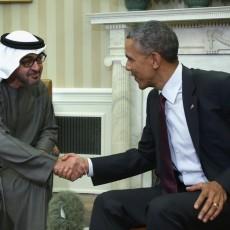 محمد بن زايد في لقاء مع باراك أوباما