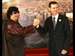 بشار الأسد وصديقه الحميم القذافي