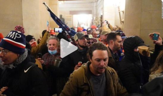 فيديو يعرض لأول مرة من داخل مبنى الكونجرس عن اقتحام الكونجرس