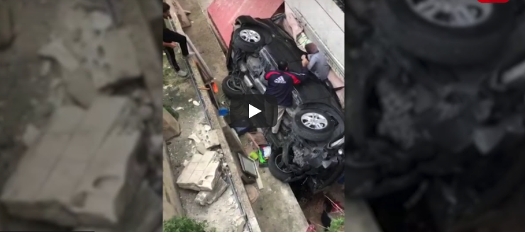 حادث مروع في لبنان في مقطع فيديو مخيف